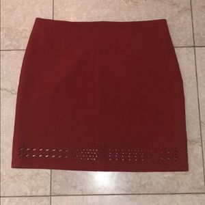 Rust color Mini skirt by Banana Republic